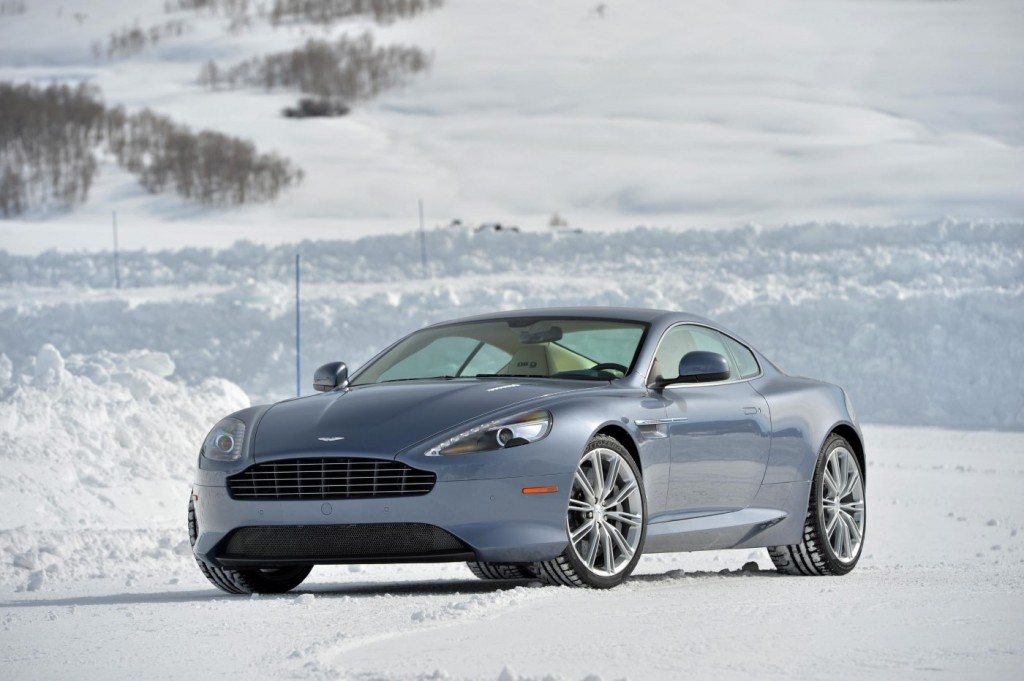 Aston Martin DB9 On Ice