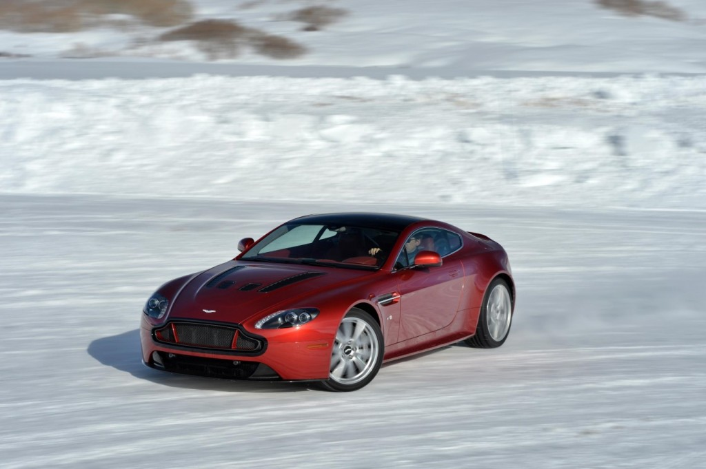 Aston Martin V12 Vantage S On Ice