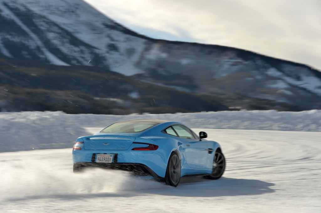 Aston Martin Vanquish On Ice