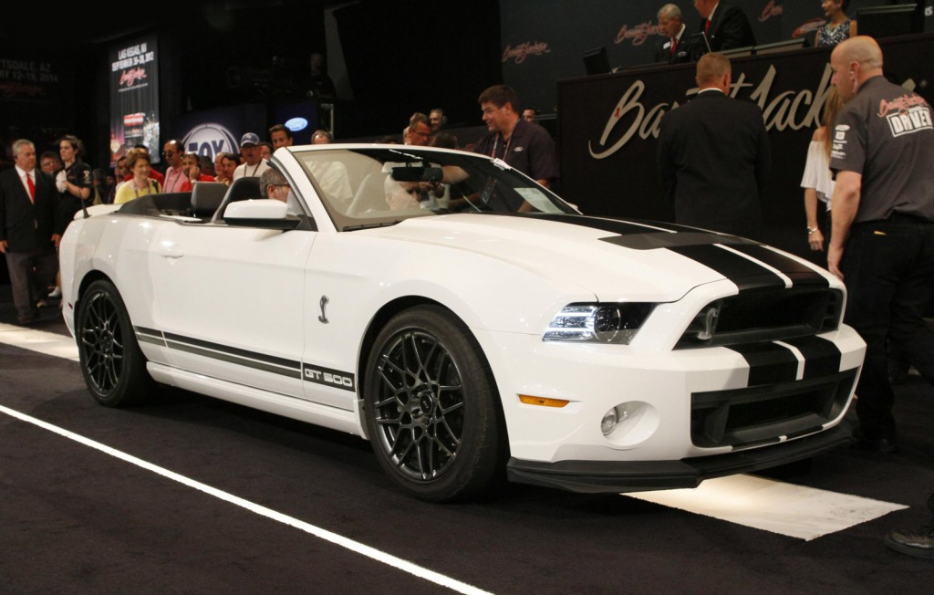 fords final 2014 shelby gt500 convertible sells for 500k at auction