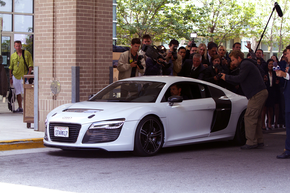 Audi R8 E-Tron Co-Stars In Iron Man 3