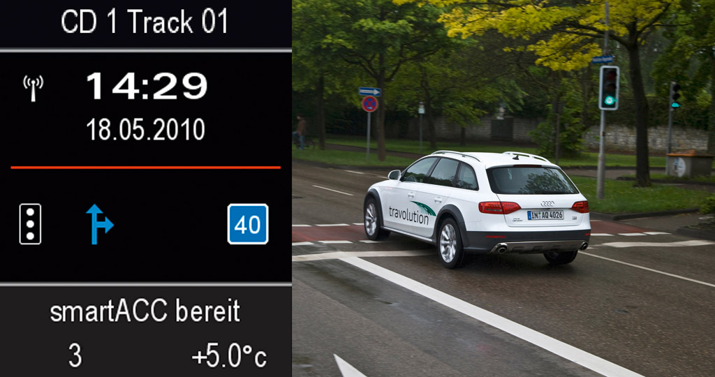 Audi Travolution traffic system