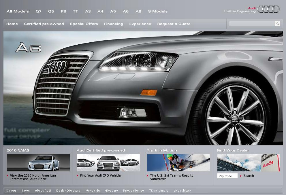 Auto Brand Websites: Audi, BMW, Benz Great; Tesla, Lotus, Lambo Lousy