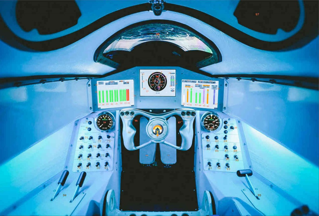 Bloodhound SSC's cockpit