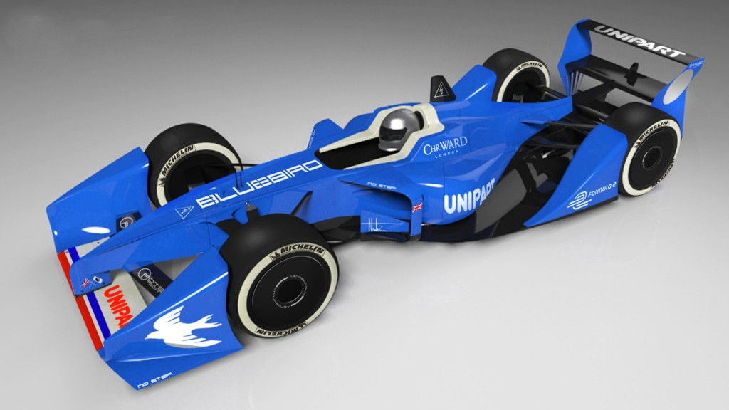 Bluebird GTL Formula E race car