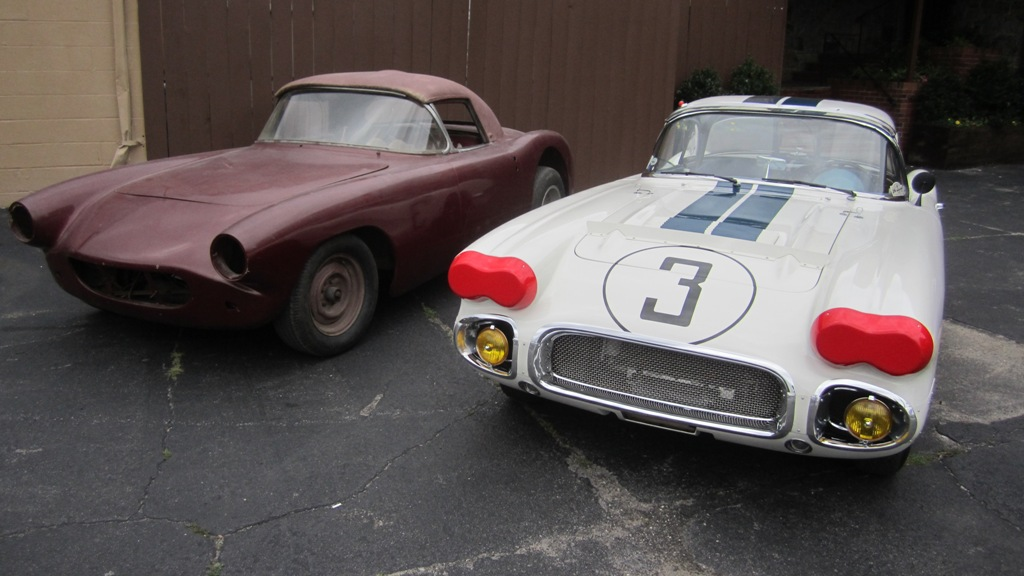 #1 and #3 Briggs Cunningham 1960 Chevrolet Corvette