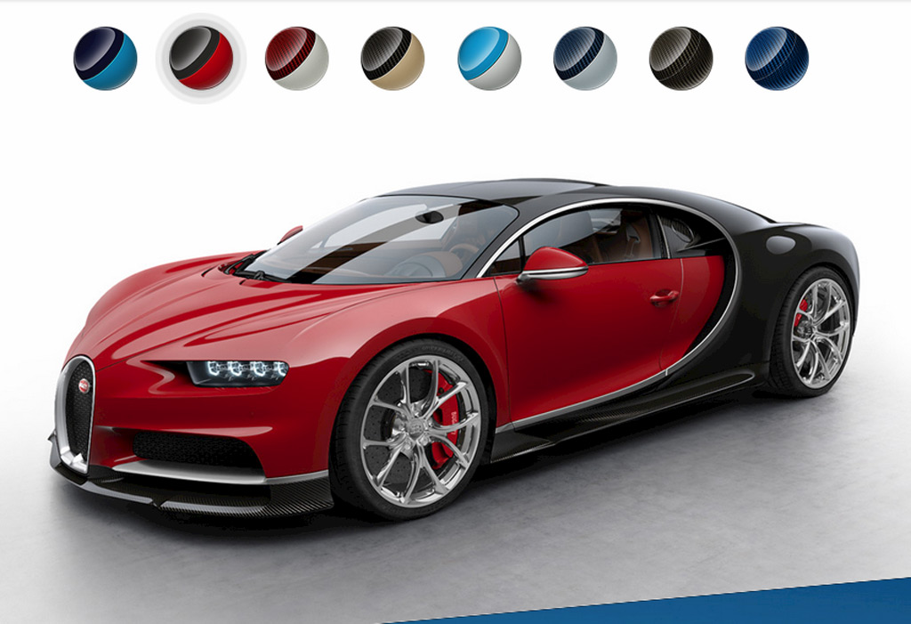 See The Bugatti Chiron In More Colors Thanks To Configurator