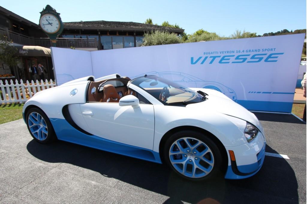 image bugatti veyron grand sport vitesse special edition at 2012 pebble beac. Black Bedroom Furniture Sets. Home Design Ideas
