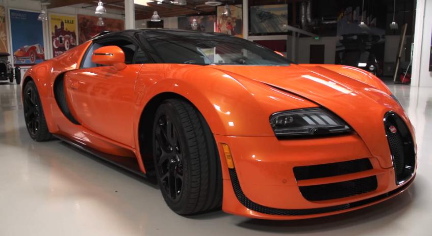 jay leno and the bugatti veyron grand sport vitesse video. Black Bedroom Furniture Sets. Home Design Ideas