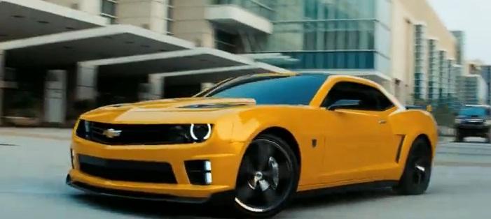 Bumblebee Camaro in Transformers 3 promo