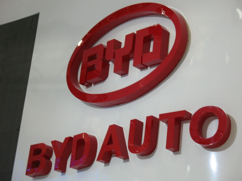 BYD, at Detroit auto show