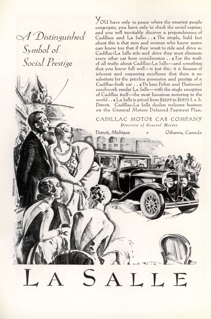 Cadillac-La Salle ad from National Geographic, February 1929