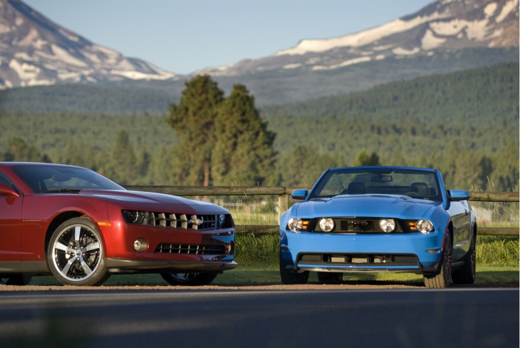 2010 Chevrolet Camaro Coupe and 2010 Ford Mustang Convertible