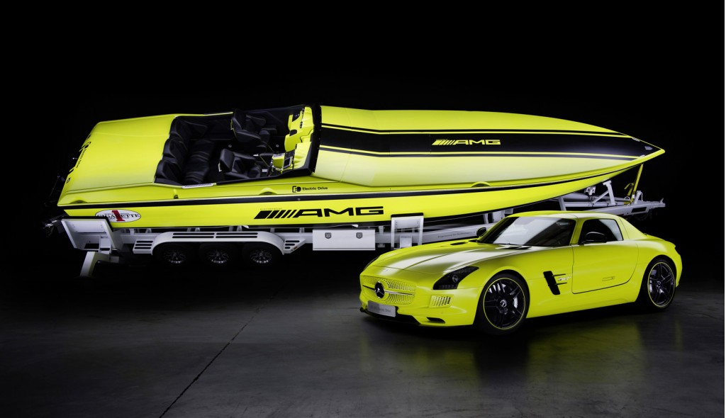 worlds fastest electric boat inspired by the mercedes sls amg electric drive