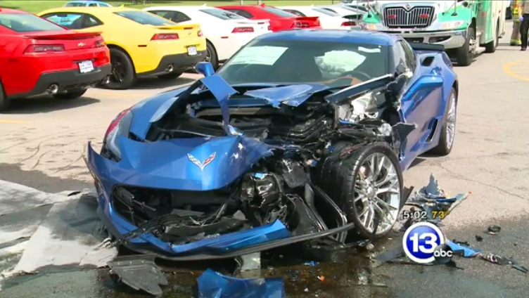 Two Corvette Z06s Wrecked After Hyundai Driver Has Seizure