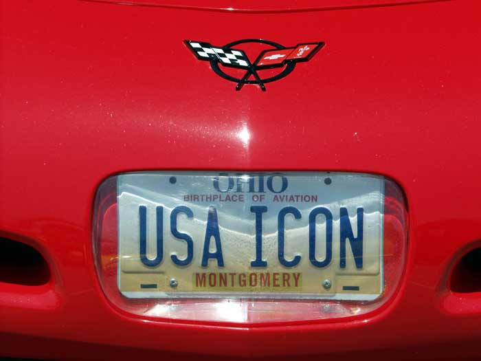 Corvette License Plate: USA Icon
