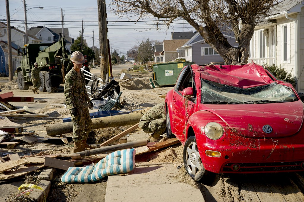 Destruction in the wake of Hurricane Sandy (via Wikimedia)