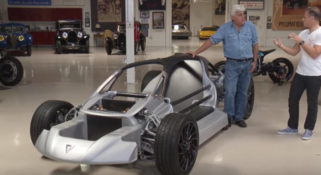 Divergent Blade 3d Printed Supercar Visits Jay Leno S Garage