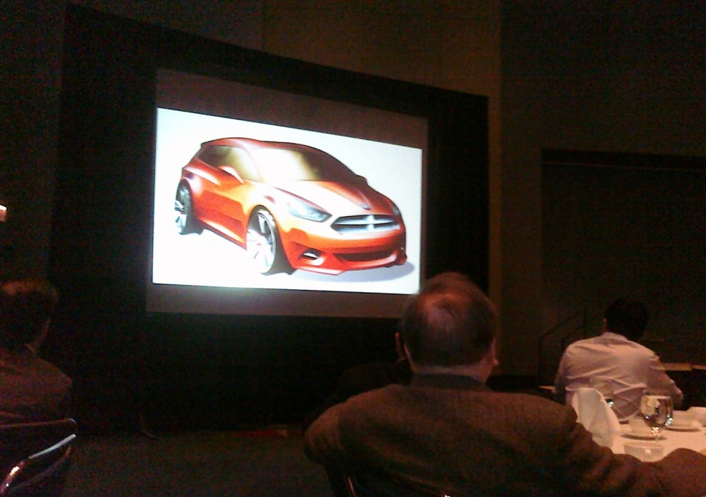 Dodge Compact car preview via Jill Ciminillo @ TwitPic