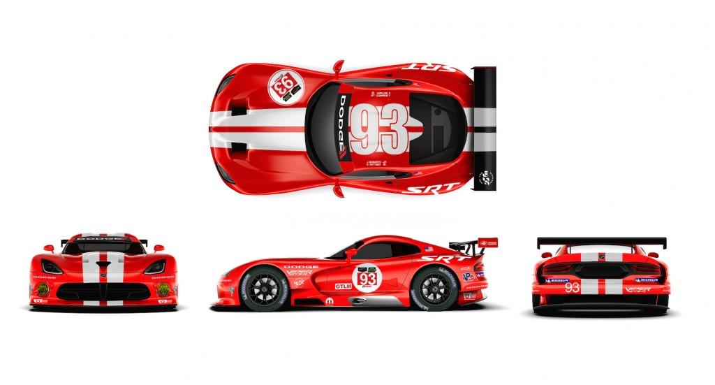 Dodge Viper SRT GTS-R race cars adopt Le Mans-winning livery