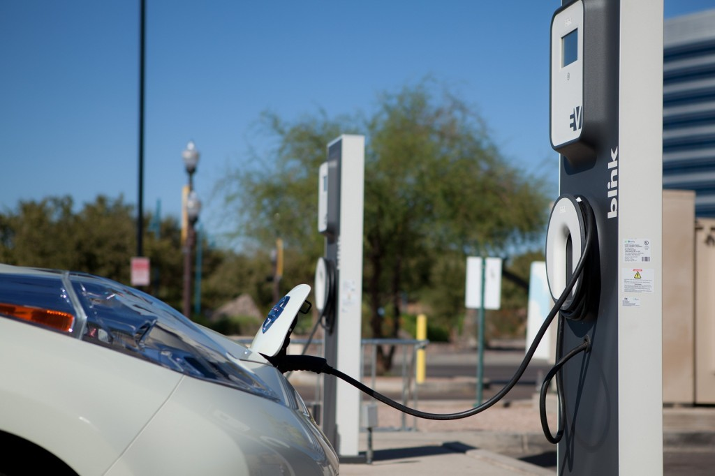 ECOtality Blink charging station for electric & plug-in cars