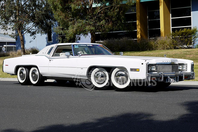 Eight Wheeled Cadillac Eldorado With Hot Tub Barbecue Up