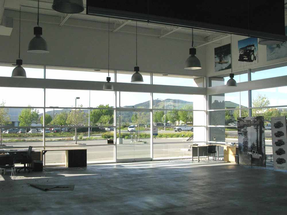 Empty dealership interior