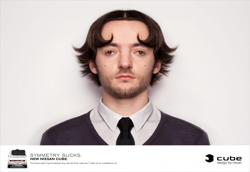 European ad for the Nissan Cube 'Symmetry Sucks' campaign