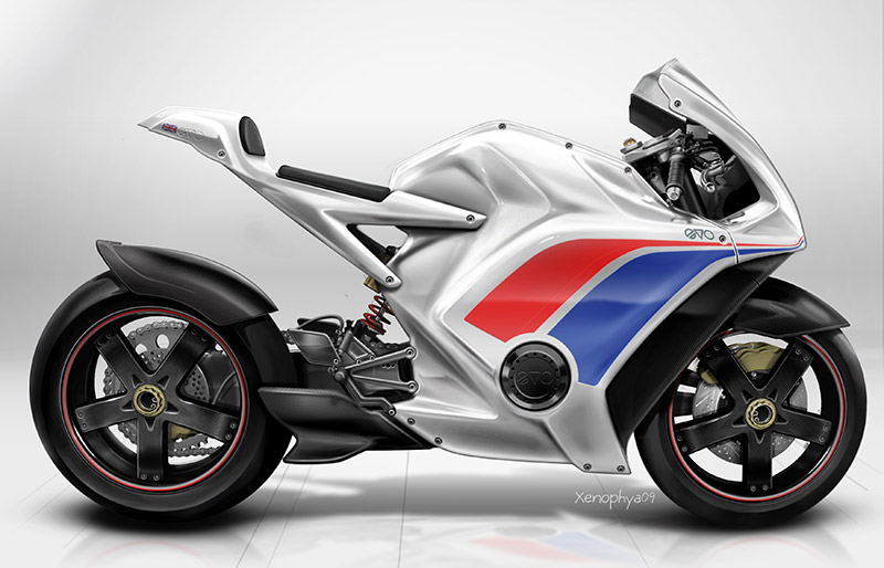 EV-o RR electric motorcycle by Evo Designs