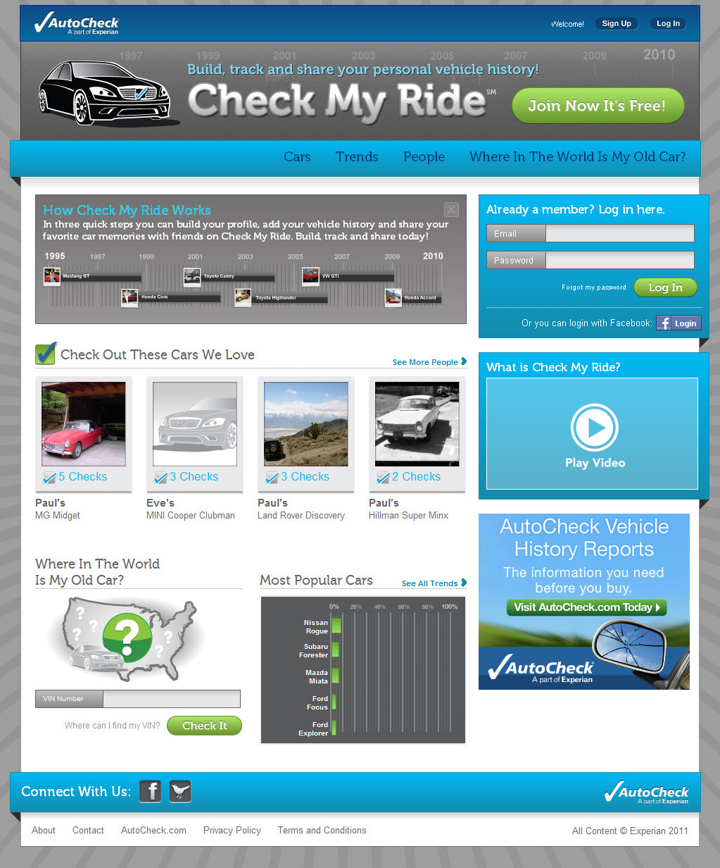 Experian Automotive's CheckMyRide.com