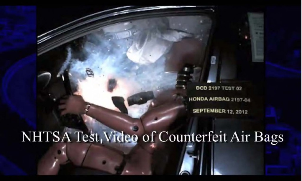 Exploding counterfeit airbag - NHTSA