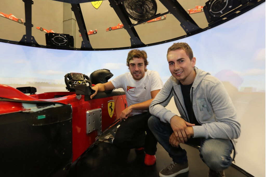 Fernando Alonso and Jorge Lorenzo