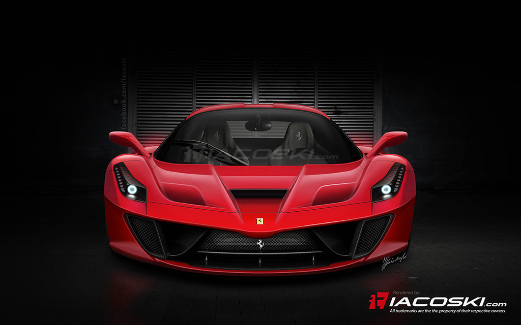 Ferrari F150 (Enzo replacement) rendering by Iacoski Design