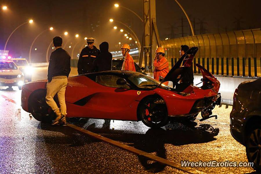Latest Laferrari Crash Is Worst Yet Photo Update