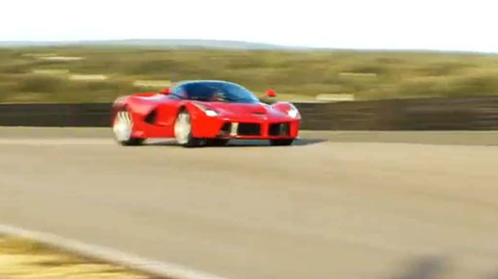 Ferrari LaFerrari hits the track