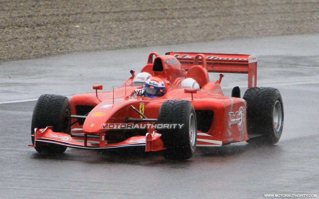 Spy Shots Ferrari Red Rush Three Seater F1 Car