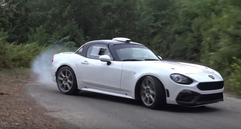 Fiat Abarth 124 R Gt Seen Being Tested And Properly Flung