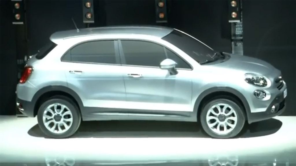 Fiat 500X crossover teased during presentation of 500L MPV in Italy