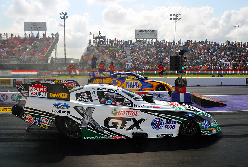 Neff earns improbable nhra funny car win at houston for Royal motors houston tx