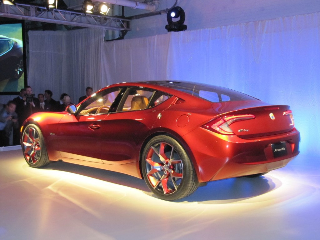 image fisker atlantic concept unveiling before new york auto show april 2012 size 1024 x 768. Black Bedroom Furniture Sets. Home Design Ideas