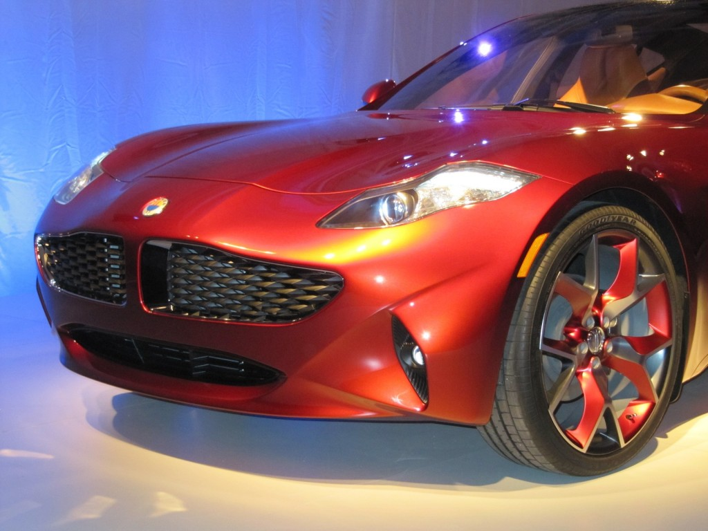 Fisker Atlantic concept unveiling before New York Auto Show, April 2012