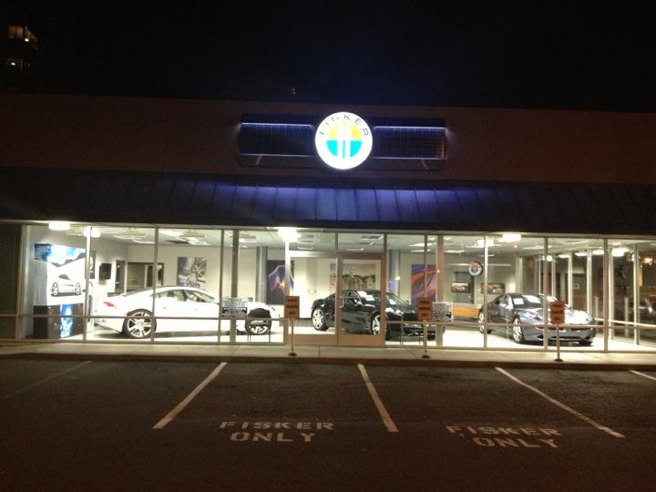Fisker of Bellevue, Washington, dealership in October 2012 [photo by Bill D via Foursquare]