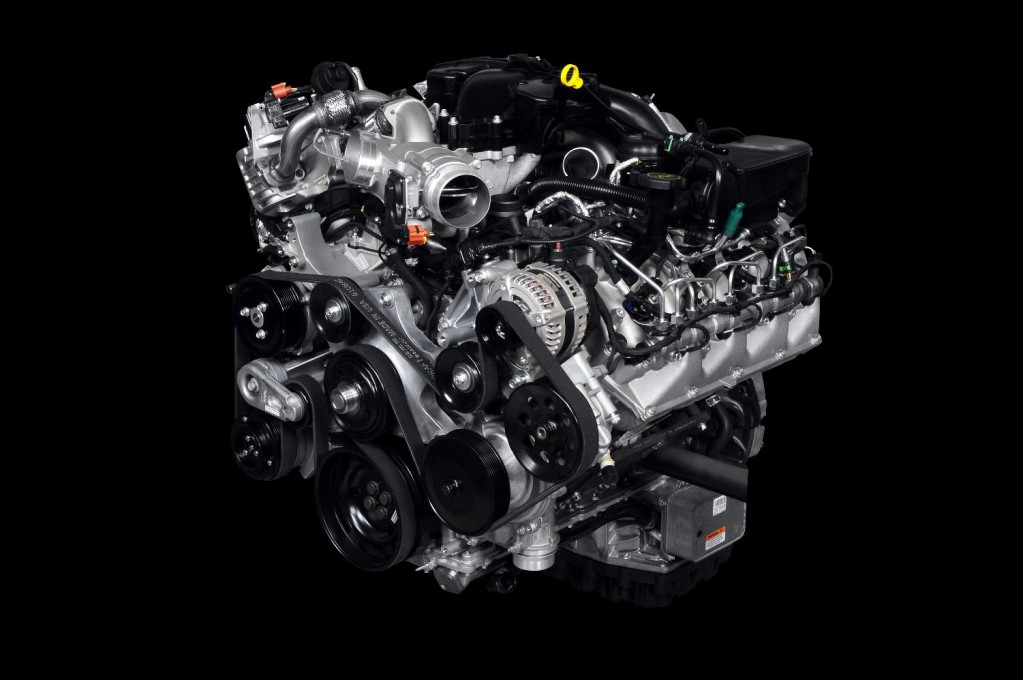 Ford 6.7-liter Power Stroke V-8 diesel engine, to be fitted to 2011 F-Series Super Duty pickups