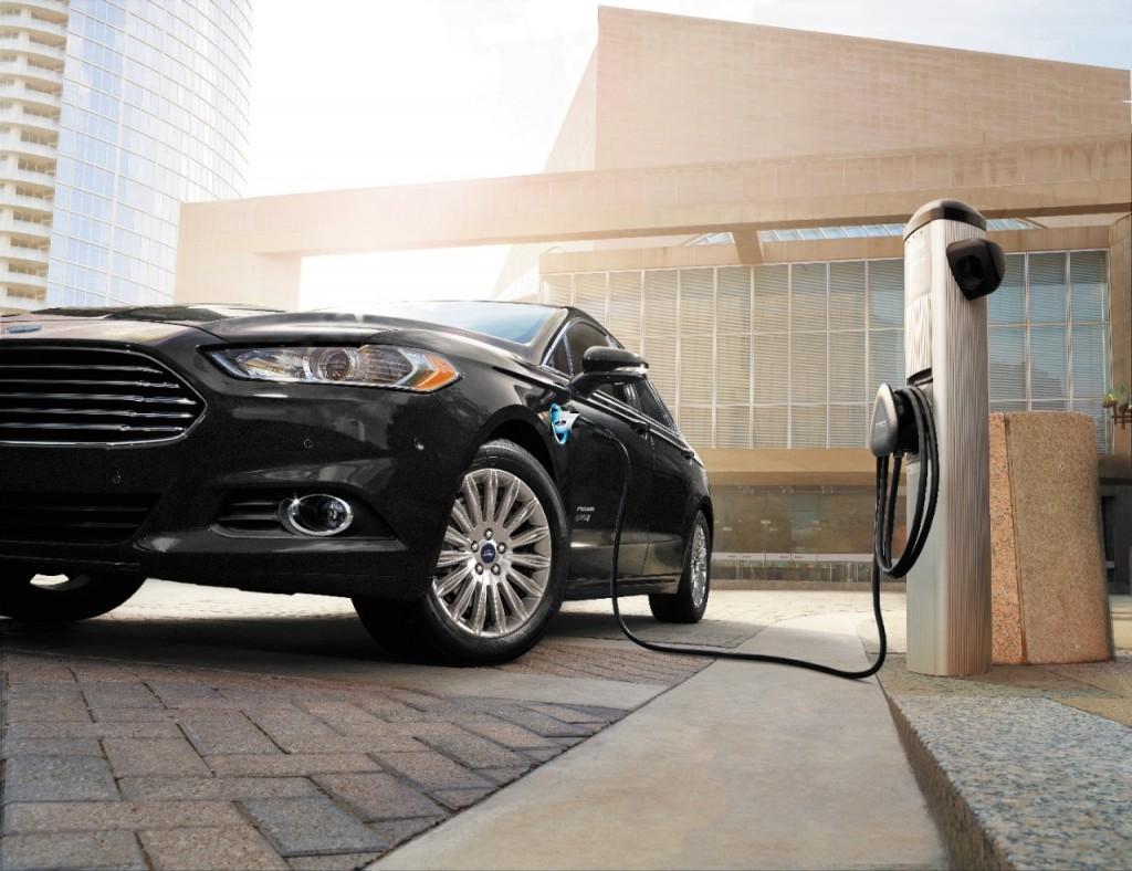 Ford Fusion Energi charging.