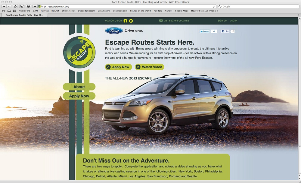 Ford's 'Escape Routes' competition