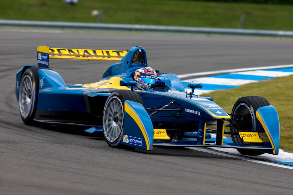 Formula E Championship first official test day, Donington Park