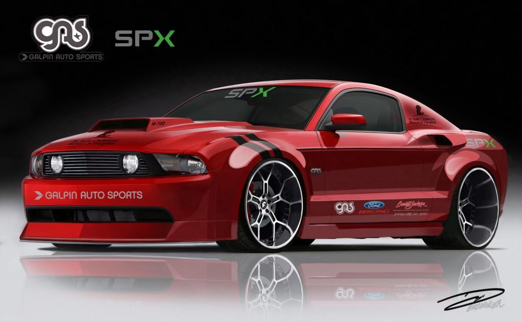 Image: Galpin Auto Sports/SPX custom Mustang rendering ...