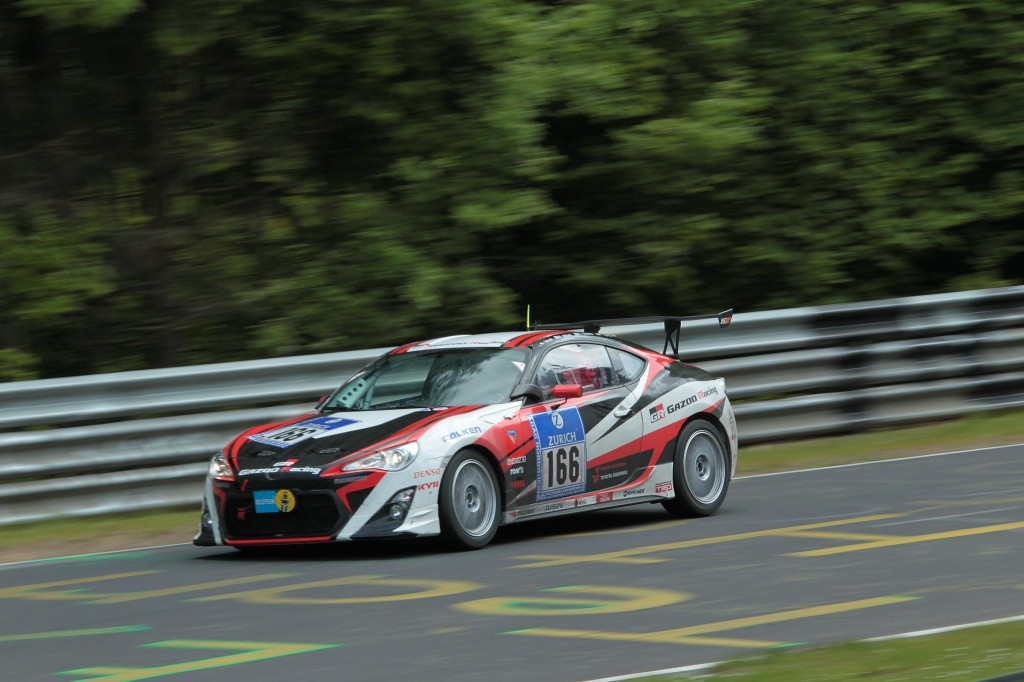 GAZOO Racing's class-winning Toyota GT86 at the 2012 Nürburgring 24 Hour race