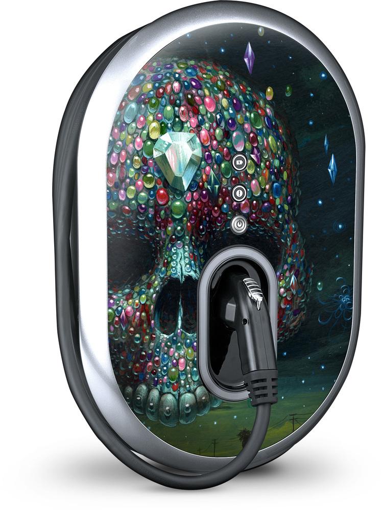 Gelaskins custom skin for GE WattStation electric-car charging unit.
