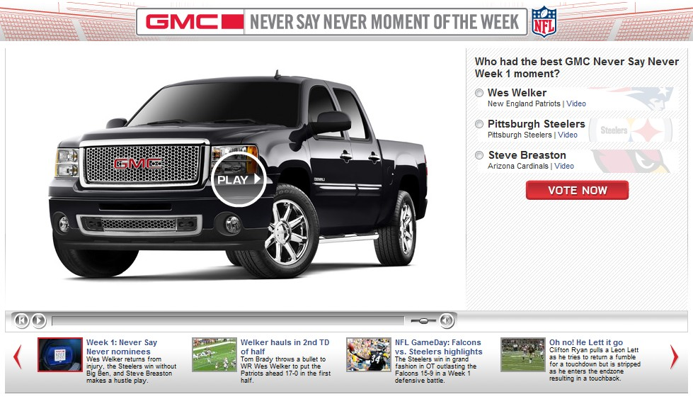 Screencap from GMC's 'Never Say Never' contest